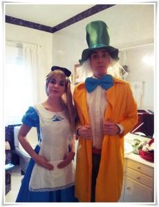 Sombrerero Loco y Alicia